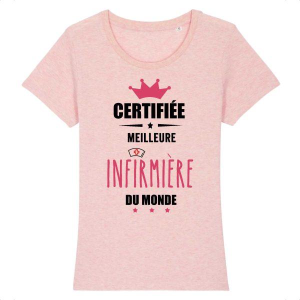 T-shirt infirmière – Certifiée meilleure infirmière du monde