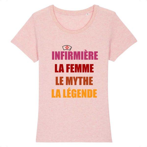 T-shirt infirmière - Infirmière la femme le mythe la légende retro